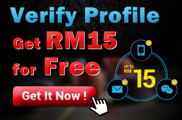 iBET Verify and Get RM 15 Promotion
