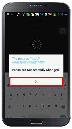 Change Password-step 5
