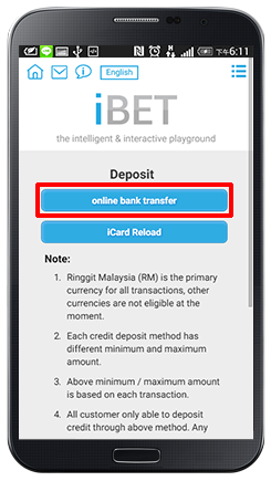 Deposit Online Bank Transfer-step 3