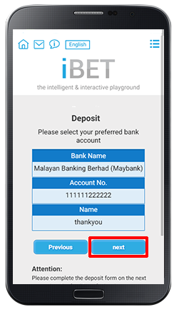 Deposit Online Bank Transfer-step 4