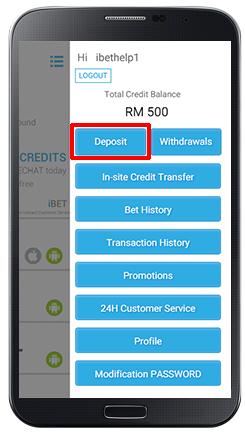 Deposit iCARD-step 2
