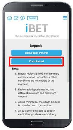 Deposit iCARD-step 3
