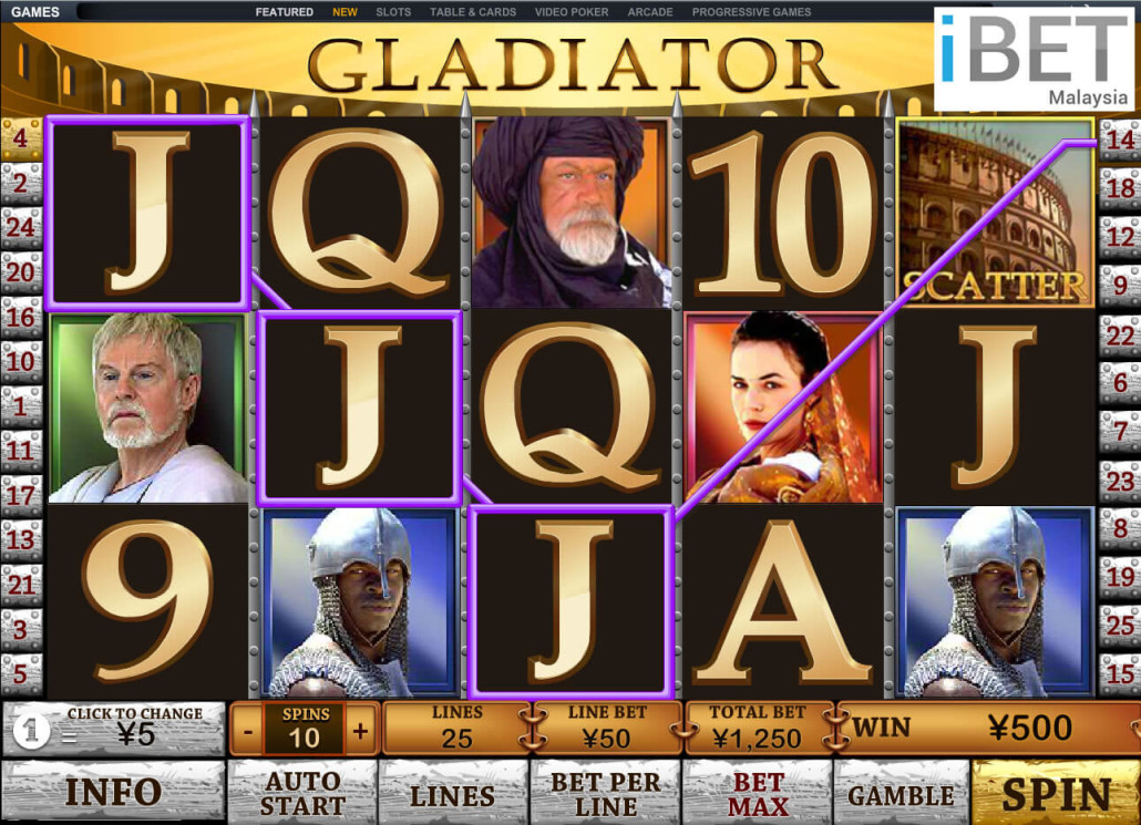 Newtown Casino Gladiator Slot