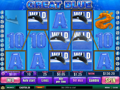 free play slot game great blue